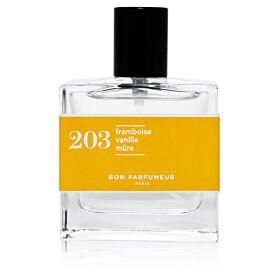 Eau de parfum 203: raspberry, vanilla and blackberry