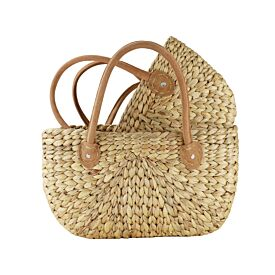Hand Woven Water Hyacinth Basket - Large