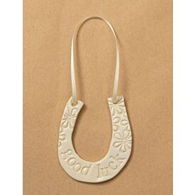 Ceramic Wedding Horseshoe Good Luck Charm