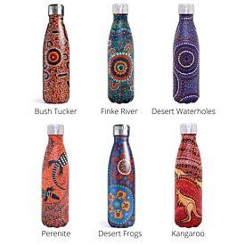 Aboriginal Design Water Bottle Stainless Steel