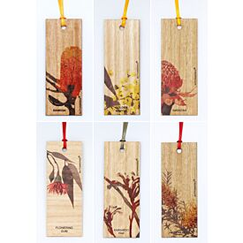 Wooden Australian Wildflowers Bookmark