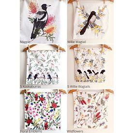 Australian Handmade Handkerchief - Birds & Floral Designs