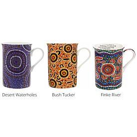 Fine Bone China Mug - Indigenous Art