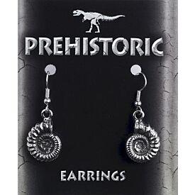 Ammonite Pewter Earrings