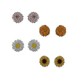 Bloom Earrings Stud Pack - Busy Head