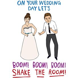 On Your Wedding Day Let's Boom Shake the Room Greeting Card