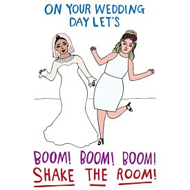 On Your Wedding Day Let's Boom Shake the Room Women Greeting Card