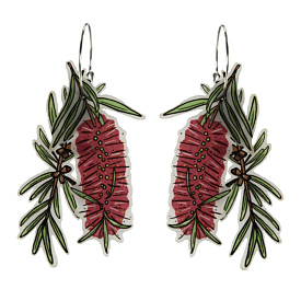Busyhead Bottle Brush Statement Hoop