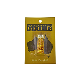 Pure Gold 999.9 Australian Gold Bottle