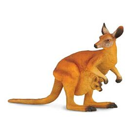 Red Kangaroo & Joey CollectA Model