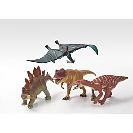 Dinosauria Collection of 4 Model Dinosaurs