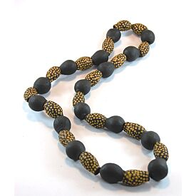 Hand-Painted Gum Nut Necklace (Yellow Dots)