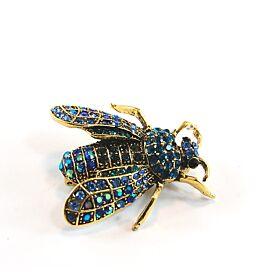 Blue Fly Brooch