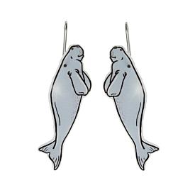 Dugong Dangle Earrings - Busy Head