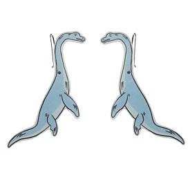 Elasmosaurus Dangle Earrings - Busy Head