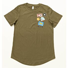 Badges Womens T-Shirt Khaki