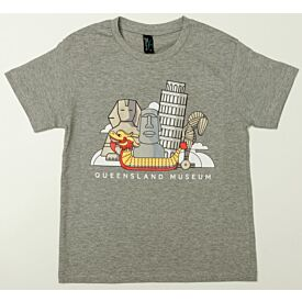 Monumental Wonders Grey Kids Shirt
