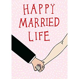 Happy Married Life Greeting Card