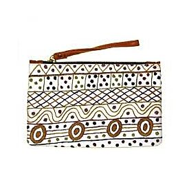 Leather Clutch with Wrist Strap - Jilamara Design