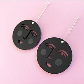 Moon Face Drop Earrings