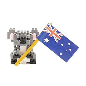 Nanoblock Koala With Flag