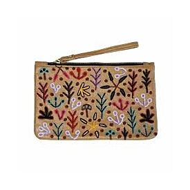 Leather Clutch with Wrist Strap - Our Country