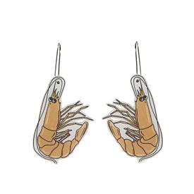 Prawn Dangle Earrings - Busy Head