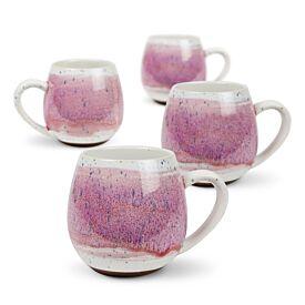 Hug Mug Pink Mediterranean Set of Four