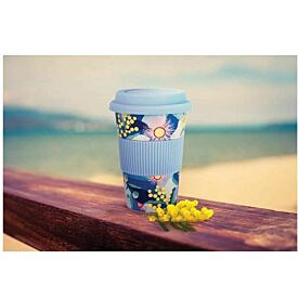 Reusable Porcelain Coffee Cup - Botanical