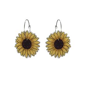 Sunflower Hoop Earrings - Busy Head