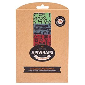 Reusable Apiwraps Beeswx Kitchen Wraps - Cheese Lovers Pack