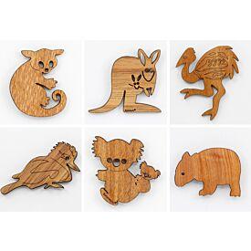 Wooden Australian Animal Magnet