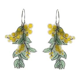 Golden Wattle Statement Hoop Earrings - Busy Head
