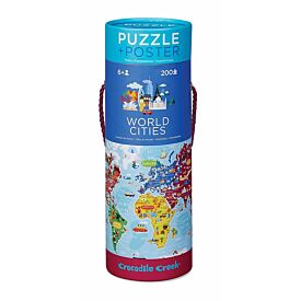 World Cities Puzzle and Poster Tube 200pc