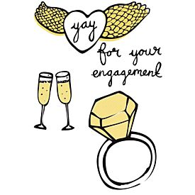 Yay For Your Engagement Greeting Card